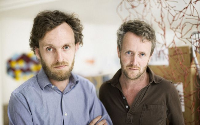 """Ronan and Erwan Bouroullec are a design team formed by brothers. With a 15-year career as designers their work his now compiled in a monograph called Works.""  Ronan & Erwan Bouroullec Ronan Erwan Bouroullec portrait 2"