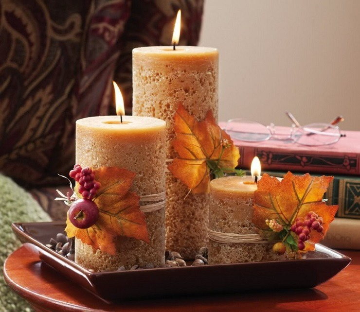 Thanksgiving centerpiece best interior designers for Thanksgiving centerpieces with candles