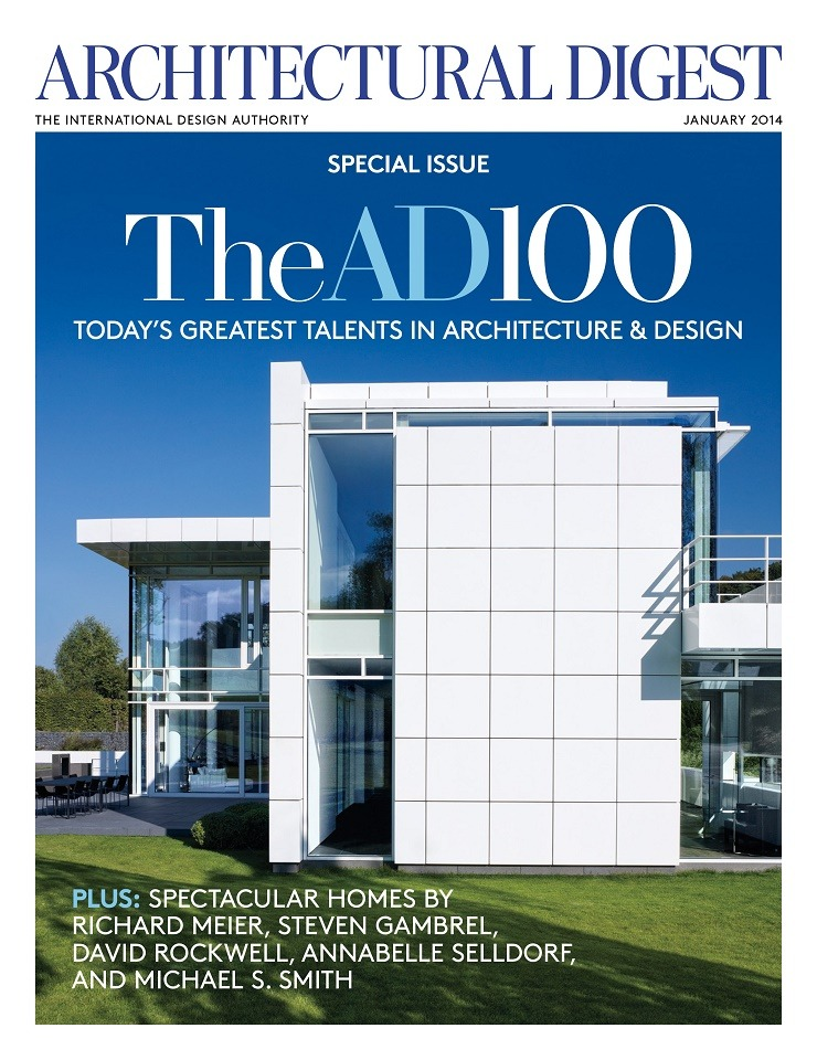 AD-January-2014-Cover  Architectural Digest: the top 100 AD January 2014 Cover   300
