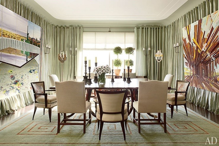 Interior Designers and architects admired by celebrities: Vicente Wolf dining-room  Great interior designers admired by celebrities item16