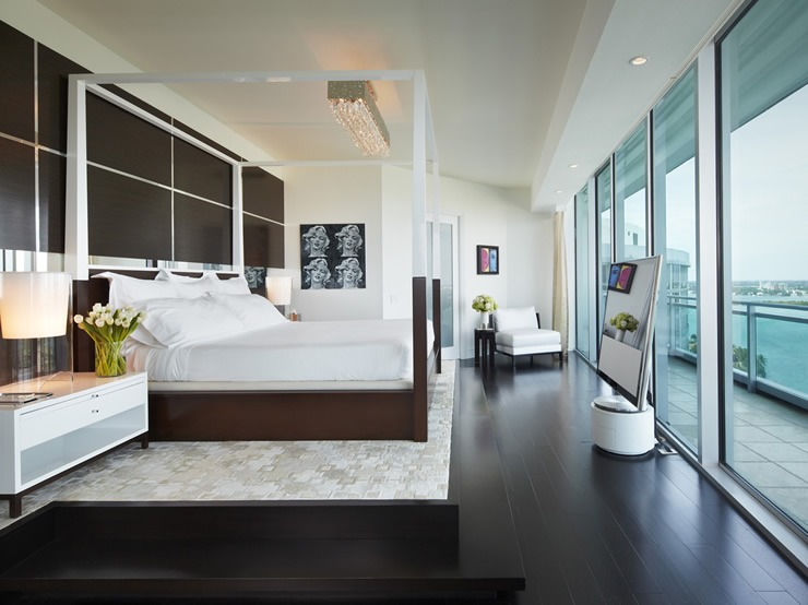 Britto Charette Bal Harbour Bedroom  Best Interior Designers: Jay Britto and David Charette britto charette bal harbour bedroom