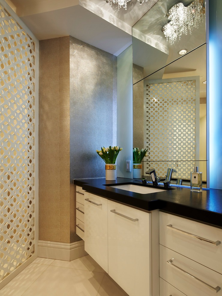 Bathroom by Britto Charette  One Bal Harbour Conduminium  by Britto Charette britto charette hal harbour living bathroom