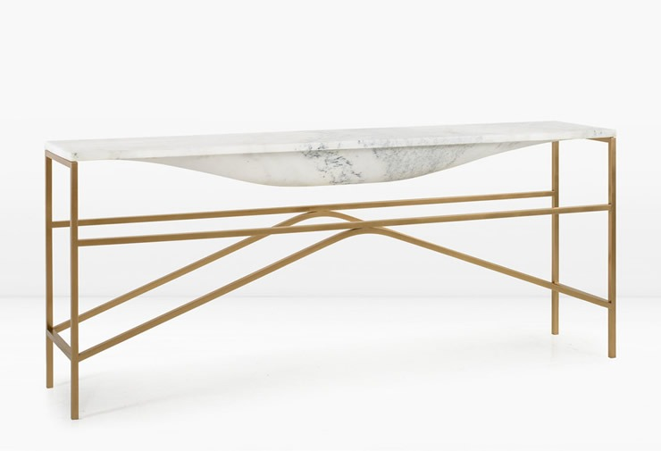 overlin sofa table bronze 2  Best Design Brands at ICFF 2014 overlin sofa table bronze 2