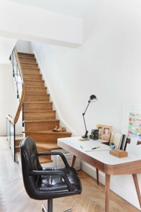 Desk area & staircase HR  LEADING INTERIOR DESIGNER: CLARE PASCOE Desk area staircase HR