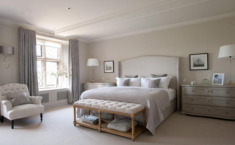 Cotswold Manor House by Emma Hilditch.  5 Interior Design looks for Fall 2014 by our favorite Interior Designers beige bedroom emma sims hilditch interior design