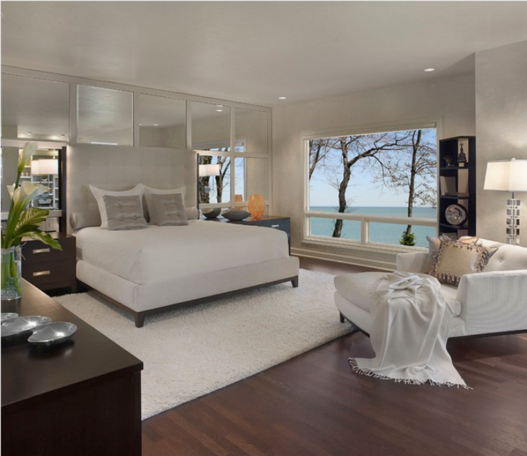 Clean and sophisticated master bedroom project  Best Interior Designers: Travis Abbott 10 finale