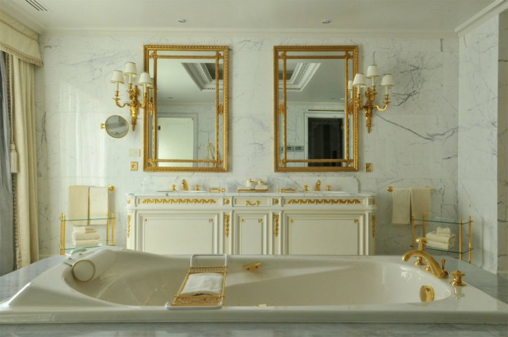 Four Seasons George V Bathroom  Best Interior Designers | Pierre Yves-Rochon Four Seasons George V Bathroom