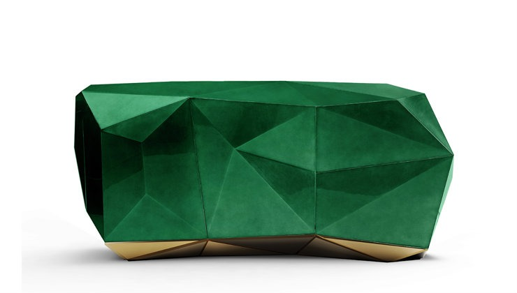 diamond sideboard  David Dalton or the L.A luxury designer diamond sideboard