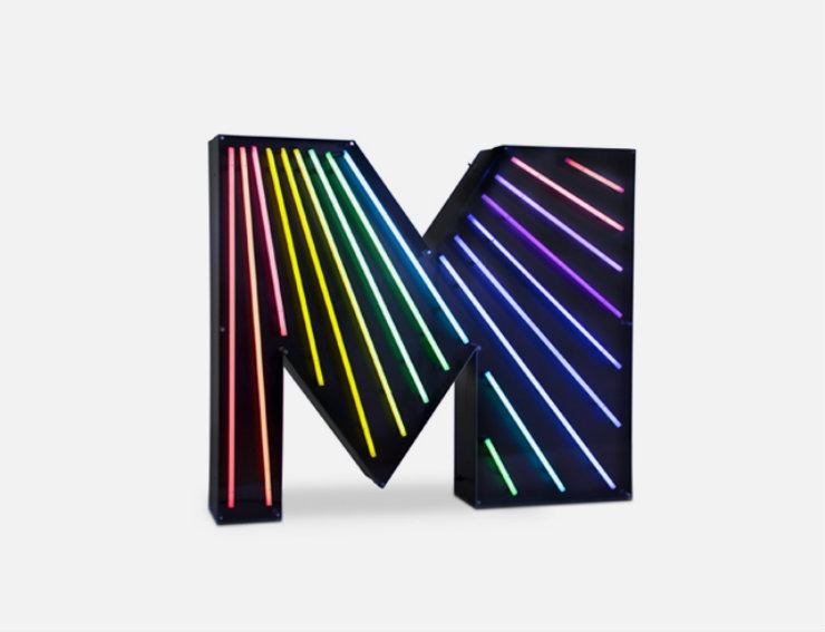 TOP Furniture Brands | Delightfull Furniture Brands TOP Furniture Brands | Delightfull letter neon graphic lamp m