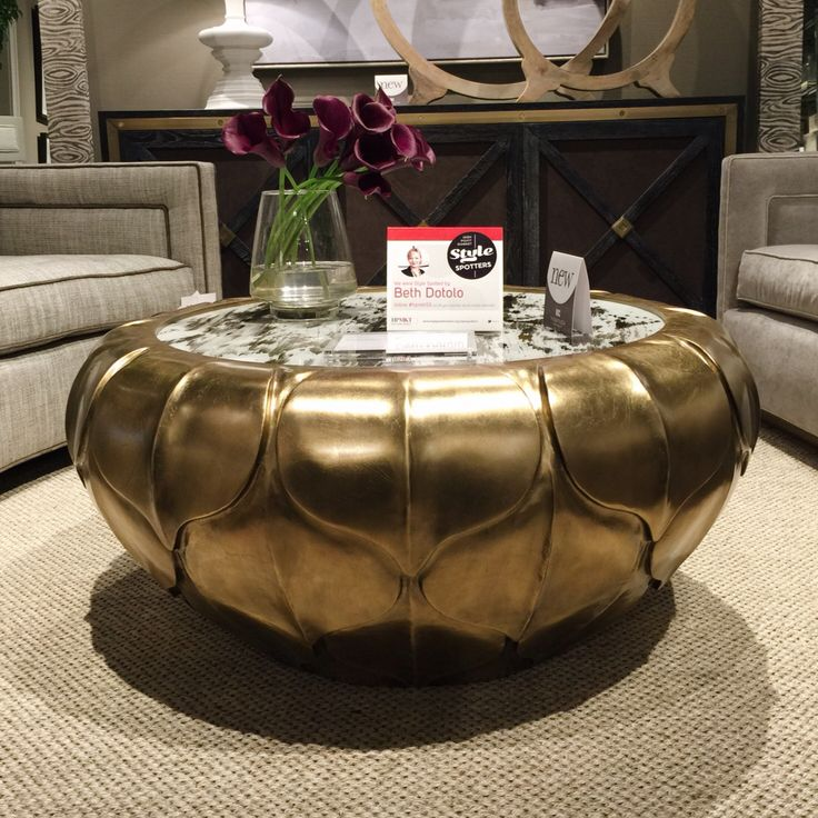 Circle Cocktail Table by Thom Filicia at Vanguard Furniture! Inspired by an artichoke, this table is hitting all the major trends while still maintaining a classic eccentric vibe.  High Point Market 2015 – Most Fascinating Style Spotters' Choices Beth Dotolo center table