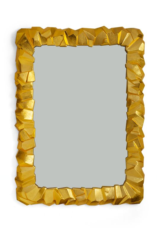 Beautiful sculptured mirror by Michael Aram  High Point Market 2015 – Most Fascinating Style Spotters' Choices Kati Curtis rock mirror