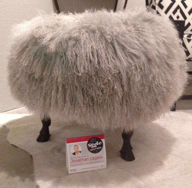 Finn Ottoman from Vancollier in Tibetan wool  High Point Market 2015 – Most Fascinating Style Spotters' Choices Part 3 jonathan legate finn otoman