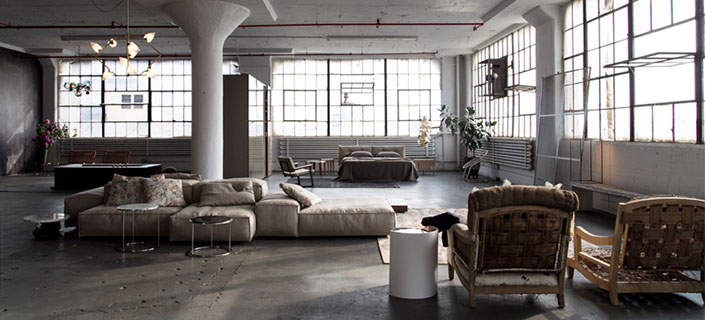 brooklyn loft showcases furnishings by italian designer piero lisso