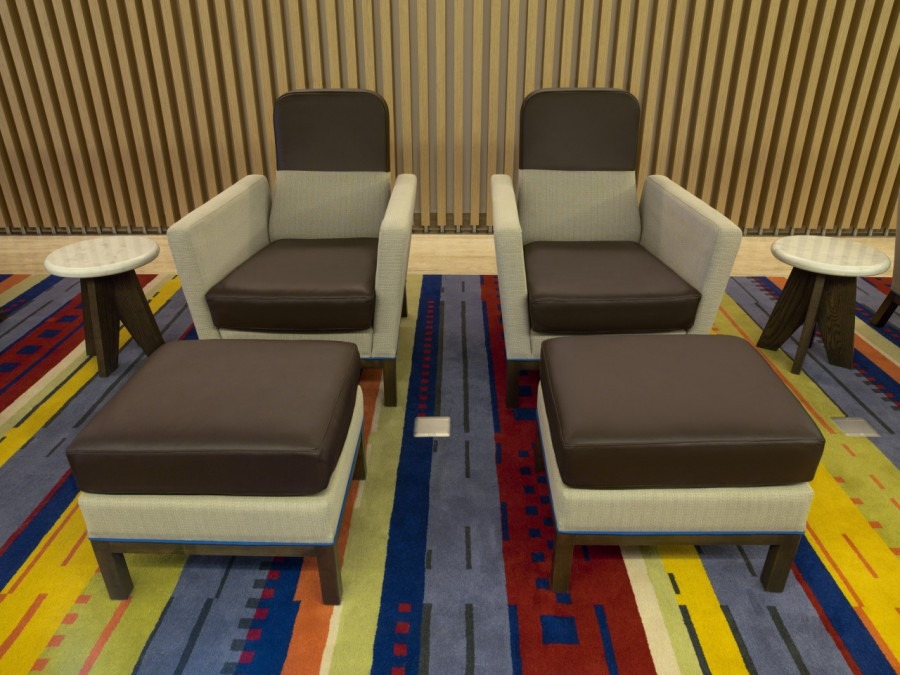 """latam airlines lounge""  Best Interior Design Projects Studio Putman Salon VIP Latam Airlines 3 e1431005840265"