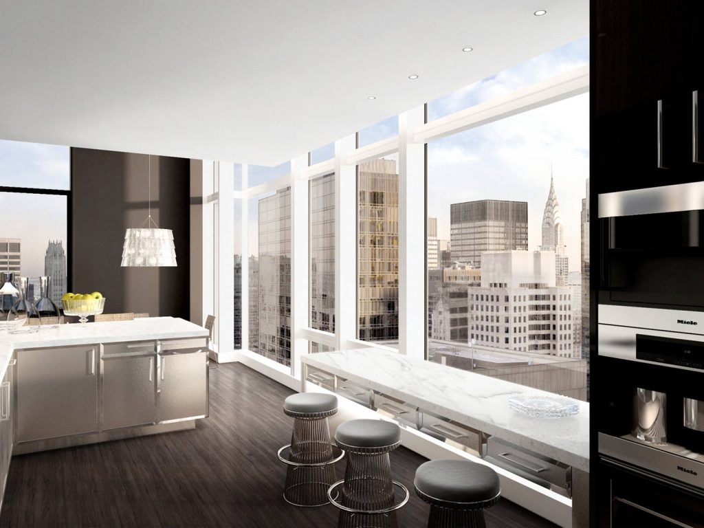 bg-residences-ny-penthouse-kitchen  Baccarat Hotel by Gilles & Boissier bg residences ny penthouse kitchen