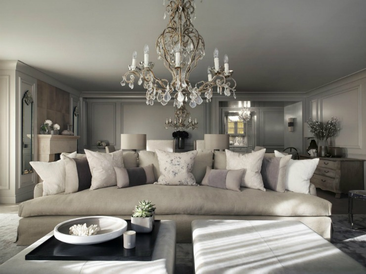 Living Room Inspiration From Best Interior Designers   Kelly Hoppen    Chalet In Switzerland Living Room
