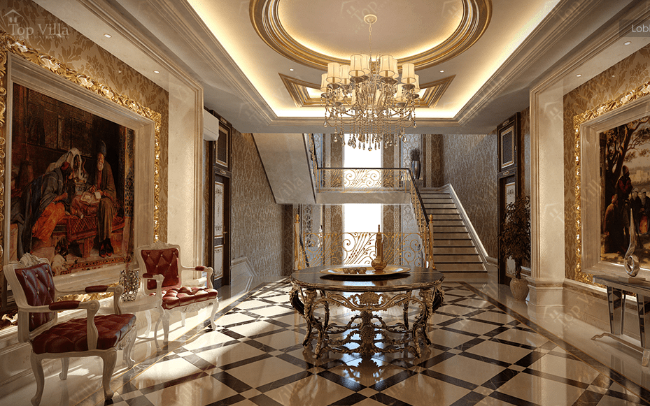 Villa interior design crowdbuild for for Villa lobby interior design