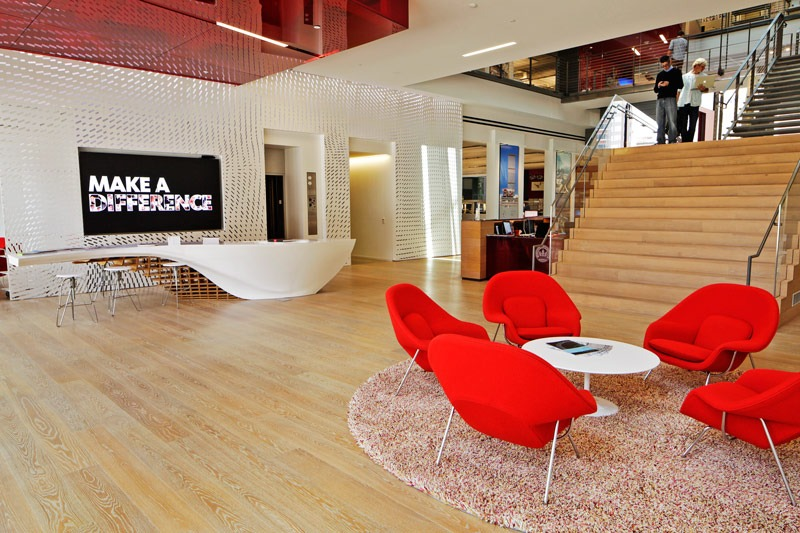 Gensler-Table-Lobby  TOP ARCHITECT | Robin Klehr Avia – Gensler Gensler Table Lobby