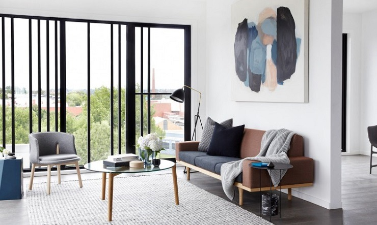 Graphite Apartment  TOP INTERIOR DESIGNERS   Miriam Fanning Graphite Apartment