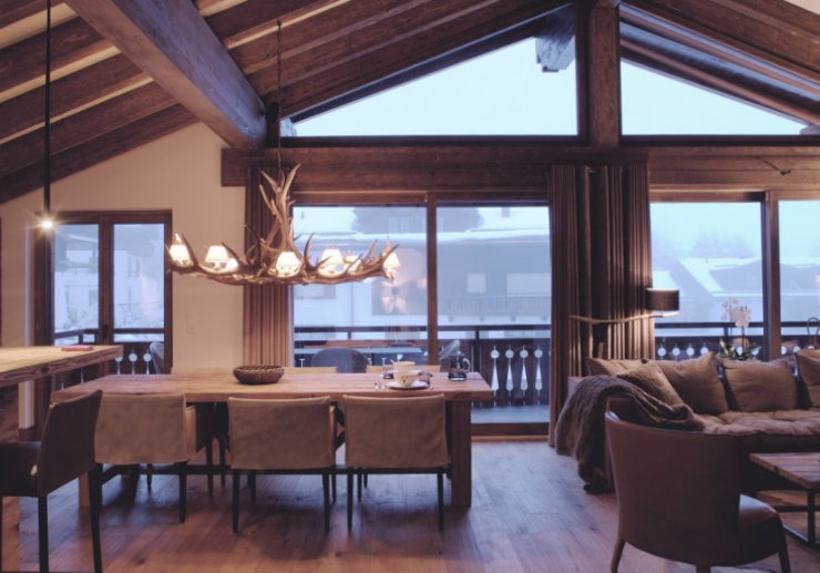 Penthouse Chalet Klosters1  Top Interior Designers | Nicole Gottschall Penthouse Chalet Klosters1