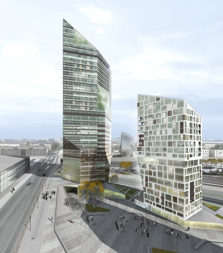 Top Architects  Cino Zucchi-Central Pasila Tower Area, Helsinki- Central Pasila tower Helsinki  Top Architects | Cino Zucchi Top Architects Cino Zucchi Central Pasila Tower Area Helsinki 3