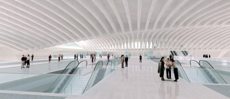 santiago-calatrava-wtc transportation hub new york-15 santiago calatrava Top Architects | Santiago Calatrava santiago calatrava wtc transportation hub new york 15 e1439367784768