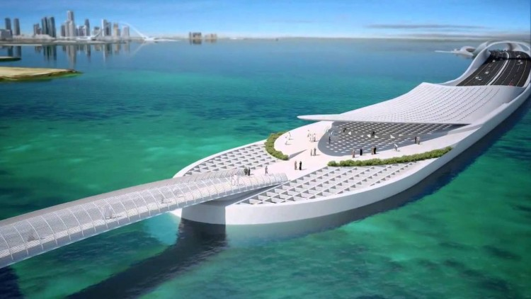 shark-bridge-santiago-calatrava  Top Architects | Santiago Calatrava shark bridge e1439369373326