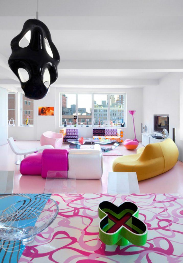 top interior designers karim rashid interior design loft 5 top interior designers karim rashid. Black Bedroom Furniture Sets. Home Design Ideas