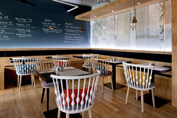 Urquiola nubb collection at Kith Cafe at Quayside singapore patricia urquiola 50 Best Interior Design Projects by Patricia Urquiola 33 Patricia Urquiola nubb collection at Kith Cafe at Quayside singapore
