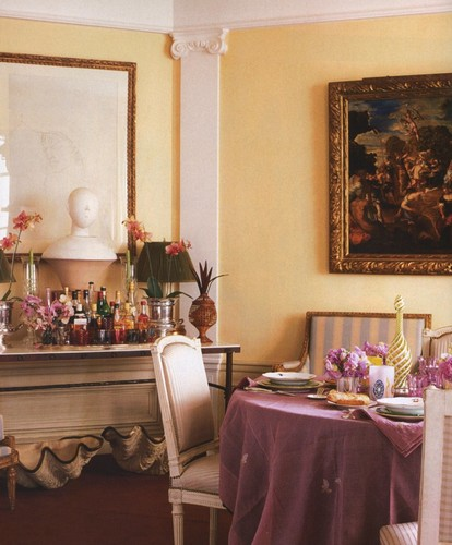 50 Best Interior Design Projects by Jacques Grange jacques grange 50 Best Interior Design Projects by Jacques Grange Best Interior Designers Jacques Grange Interior Design Luxury Interiors Dining Room in Pink and Yellow