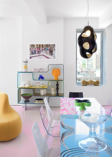 Best interior Design Projects by Karim Rashid  25 Best Interior Design Projects by Karim Rashid Karim Rashid Loft Project detail of the Dining Room
