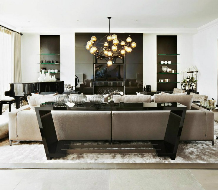 Kelly Hoppen - The Family Home in London 5  50 Best Interior Design Projects by Kelly Hoppen Kelly Hoppen The Family Home in London 5