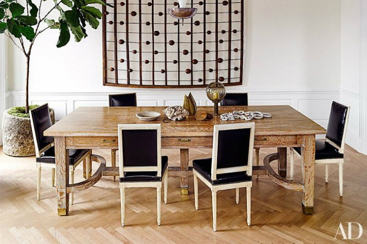 Nate Berkus Interior Design Wooden Dining Table In New York