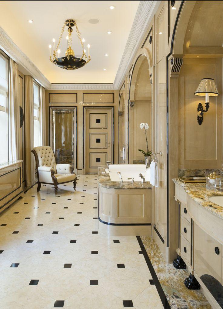 50 Best Interior Designs by Alberto Pinto  50 Best Interior Design Projects by Alberto Pinto best interior designers alberto pinto blackwhite bathroom