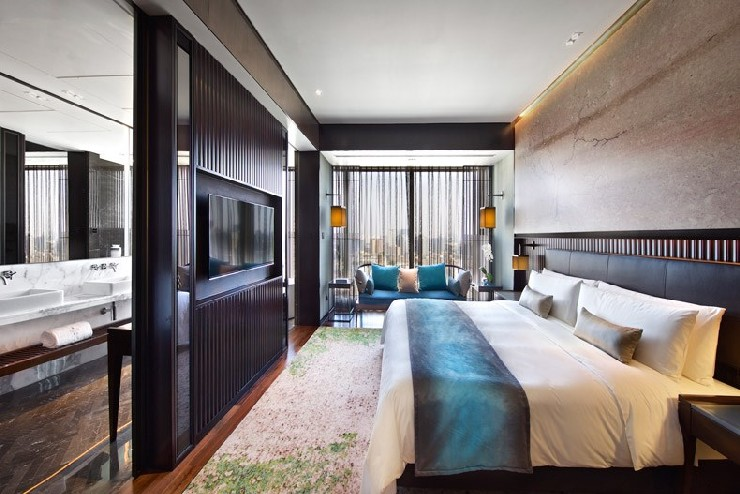 Hirsch Bedner Associates nuo hotel suite design modern and colorful  25 Best Interior Design Projects by HBA / Hirsch Bedner Associates 12 Hirsch Bedner Associates nuo hotel suite design modern and colorful