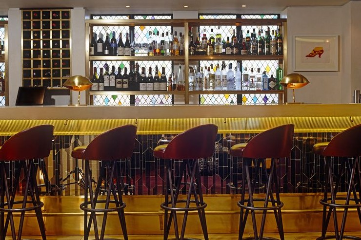the Club at the Ivy, London Bar by MB Design Studio martin brudnizki 25 Best Interior Design Projects by Martin Brudnizki 12 he Club at the Ivy London Bar by Martin Brudnizki Design Studio