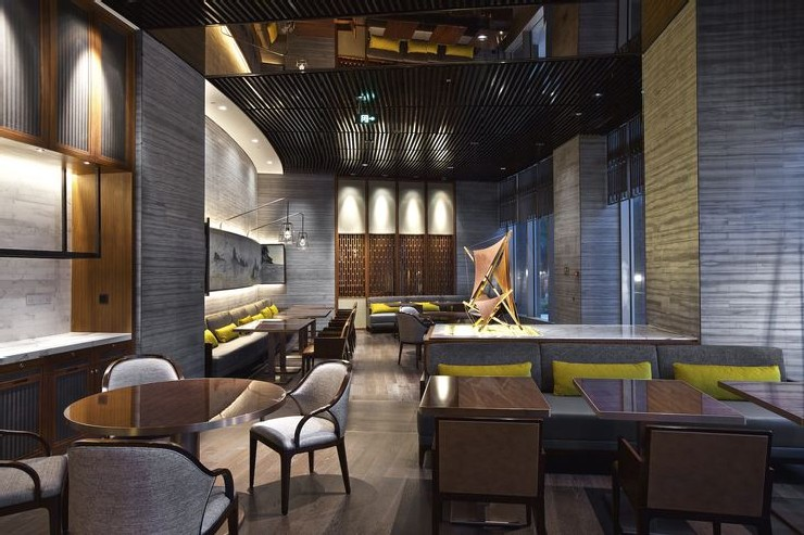 Hirsch Bedner Associates nuo hotel beijing lounge bar  25 Best Interior Design Projects by HBA / Hirsch Bedner Associates 16 Hirsch Bedner Associates nuo hotel beijing lounge bar