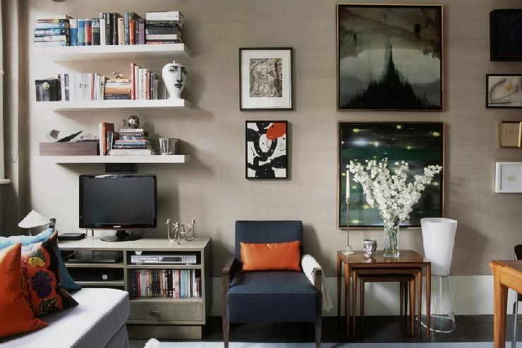Parson's Green, London Residential Living Area by M. Brudnizki Design Studio
