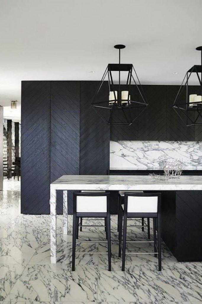 Black details in this kitchen - Greg Natale Design  25 Best Interior Design Projects by Greg Natale 18 Black details in this kitchen Greg Natale Design