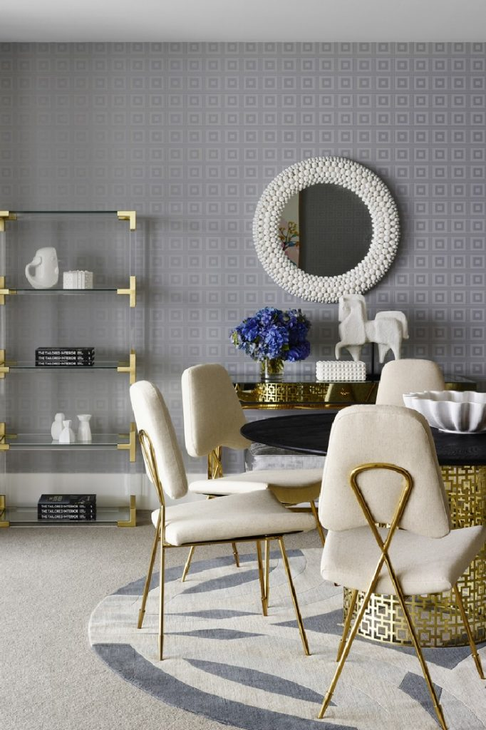 Greg Natale's luxurious oroject of a dining area with gold accents  25 Best Interior Design Projects by Greg Natale 20 Greg Natales luxurious oroject of a dining area with gold accents