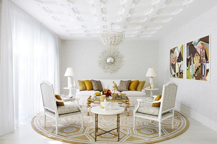 Greg Natale's design This room floats in a cloud of white detail and strong geometric shapes that stand out nicely  25 Best Interior Design Projects by Greg Natale 5 Greg Natales design This room floats in a cloud of white detail and strong geometric shapes that stand out nicely