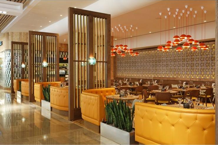 Las Iguanas, Stratford Main Dining Area by M. Brudnizki Design martin brudnizki 25 Best Interior Design Projects by Martin Brudnizki 7 Las Iguanas Stratford Main Dining Area by Martin Brudnizki Design