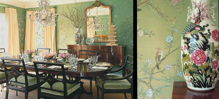 Mary McDonald Dining room ideas in green  25 Best Interior Design Projects by Mary McDonald MaryMcDonald Dining room ideas