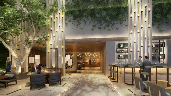 Rockwell group announced new hotel interior design project for Hotel interior decoration