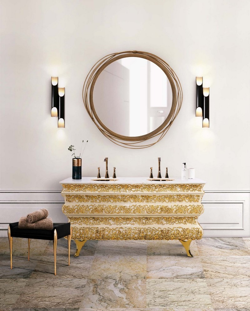 100+ Refined Decorating Ideas That Are Pure Gold - The Best Interior Designers' team is about to share with you the hottest tips for that will let your next interior design project just awesome! ➤ Discover the season's newest designs and inspirations. Visit Best Interior Designers at www.bestinteriordesigners.eu #bestinteriordesigners #luxuryfurniturebrands #bestdesignprojects @BestID @koket @bocadolobo @delightfulll @brabbu @essentialhomeeu @circudesign @mvalentinabath @luxxu golden interior design ideas 100+ Golden Interior Design Ideas Picked by Interior Design Magazines Interior Design Tips 100 Refined Decorating Ideas That Are Pure Gold 102
