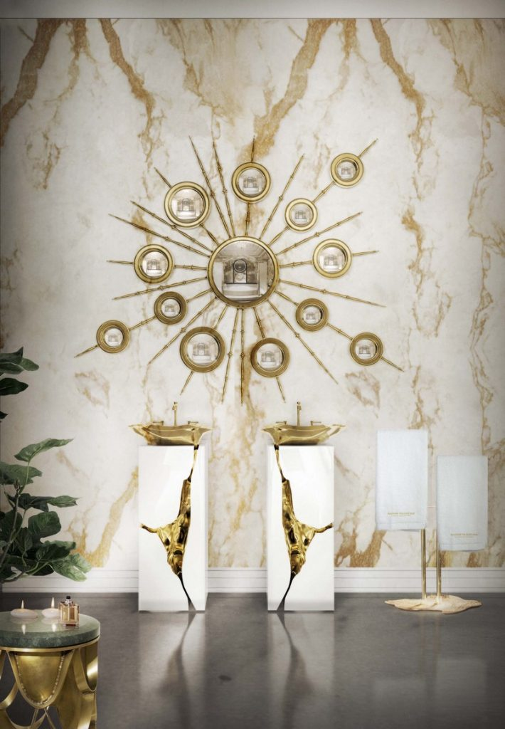 100+ Refined Decorating Ideas That Are Pure Gold - The Best Interior Designers' team is about to share with you the hottest tips for that will let your next interior design project just awesome! ➤ Discover the season's newest designs and inspirations. Visit Best Interior Designers at www.bestinteriordesigners.eu #bestinteriordesigners #luxuryfurniturebrands #bestdesignprojects @BestID @koket @bocadolobo @delightfulll @brabbu @essentialhomeeu @circudesign @mvalentinabath @luxxu golden interior design ideas 100+ Golden Interior Design Ideas Picked by Interior Design Magazines Interior Design Tips 100 Refined Decorating Ideas That Are Pure Gold 104