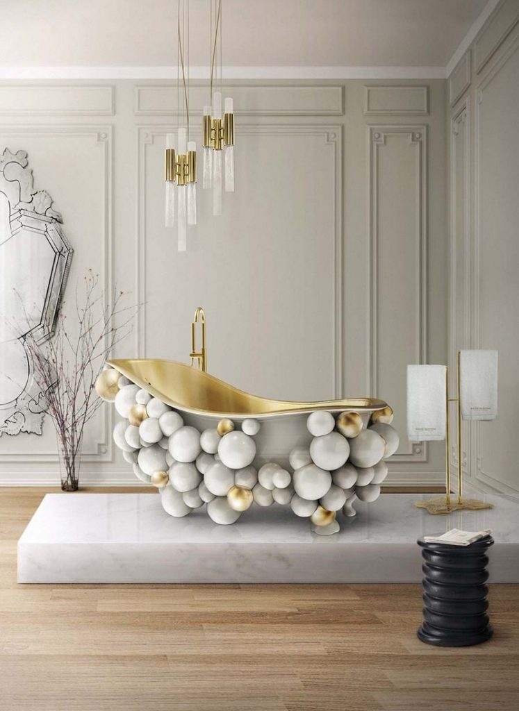 10 Best Golden Interior Decoration Ideas by Top Furniture Brands - Are you looking for the most amazing decorating ideas? So take a look at this amazing interior design projects picked by our editors' team and get inspired! ➤ Discover the season's newest designs and inspirations. Visit Best Interior Designers at www.bestinteriordesigners.eu #bestinteriordesigners #luxuryfurniturebrands #bestdesignprojects @BestID @koket @bocadolobo @delightfulll @brabbu @essentialhomeeu @circudesign @mvalentinabath @luxxu  golden interior design ideas 10 Best Golden Interior Design Ideas by Top Furniture Brands Interior Design Tips 100 Refined Decorating Ideas That Are Pure Gold 110