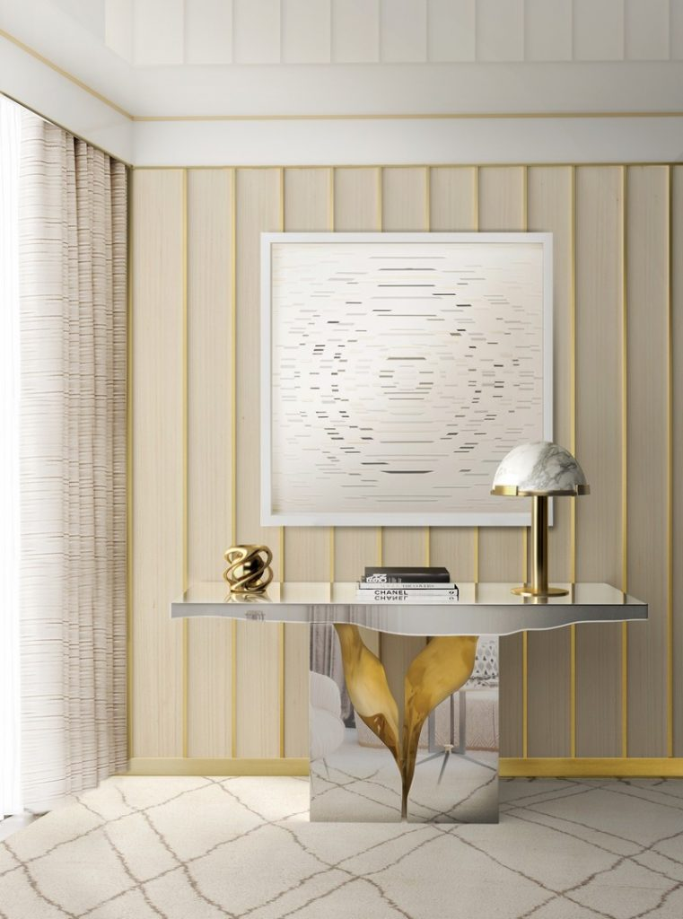 100+ Refined Decorating Ideas That Are Pure Gold - How about a little bit of great inspirational decorating ideas? So get inspired by the best interior design projects chosen by our editors' team! ➤ Discover the season's newest designs and inspirations. Visit Best Interior Designers at www.bestinteriordesigners.eu #bestinteriordesigners #luxuryfurniturebrands #bestdesignprojects @BestID @koket @bocadolobo @delightfulll @brabbu @essentialhomeeu @circudesign @mvalentinabath @luxxu golden interior design ideas 100+ Golden Interior Design Ideas Picked by Interior Design Magazines Interior Design Tips 100 Refined Decorating Ideas That Are Pure Gold 39
