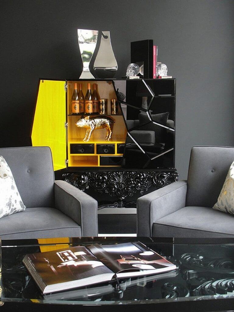 50 Unforgettable Black Accents and Interior Decorating Ideas - @BestID has pulled together inspiration more than 100 living room decor ideas designed by some of the best luxury furniture brands in the world. ➤ Discover the season's newest designs and inspirations. Visit Best Interior Designers at www.bestinteriordesigners.eu #bestinteriordesigners #topinteriordesigners #bestdesignprojects @BestID @brabbu @bocadolobo @koket @delightfulll @essentialhomeeu @circudesign @mvalentinabath @luxxu black modern home furnishings 50 Interior Decorating Ideas with Black Modern Home Furnishings 50 Unforgettable Black Home Accents and Interior Decorating Ideas 116