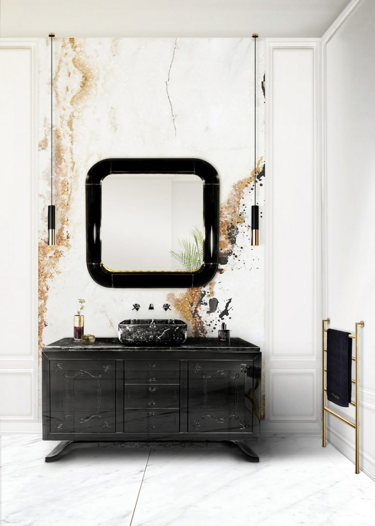 50 Unforgettable Black Accents and Interior Decor Ideas - @BestID has pulled together inspiration more than 100 living room decor ideas designed by some of the best luxury furniture brands in the world. ➤ Discover the season's newest designs and inspirations. Visit Best Interior Designers at www.bestinteriordesigners.eu #bestinteriordesigners #topinteriordesigners #bestdesignprojects @BestID @brabbu @bocadolobo @koket @delightfulll @essentialhomeeu @circudesign @mvalentinabath @luxxu black home accents 50+ Impressive Interior Decorating Ideas with Black Home Accents 50 Unforgettable Black Home Accents and Interior Decorating Ideas 63